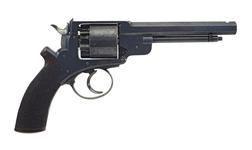 Thumbnail image of Percussion six-shot revolver - John Adams Model 1866 Adams patent no 135. Retailed by Adams patent small arms co.