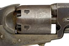 Thumbnail image of Percussion six-shot revolver - Colt Navy Model 1851 Percussion six-shot revolver, Colt Navy Model 1851, about 1865.