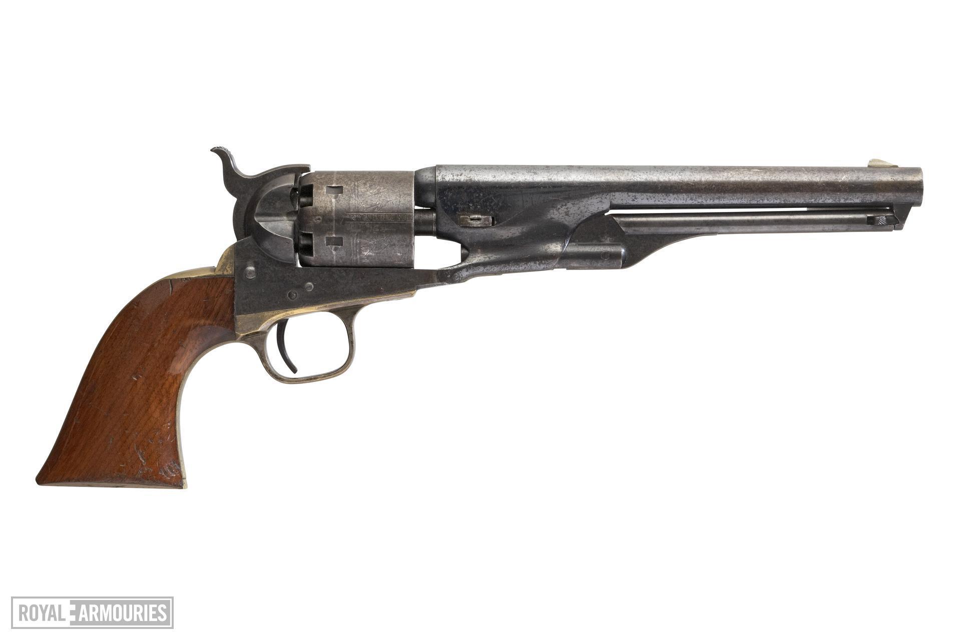 Percussion six-shot revolver - Colt Navy Model 1861