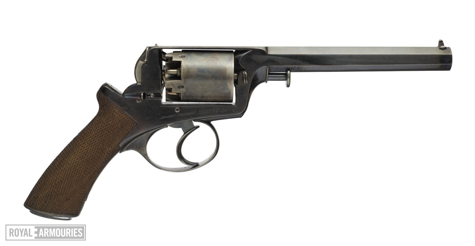 Percussion five-shot revolver - Adams Model 1851 Patent number 13964R