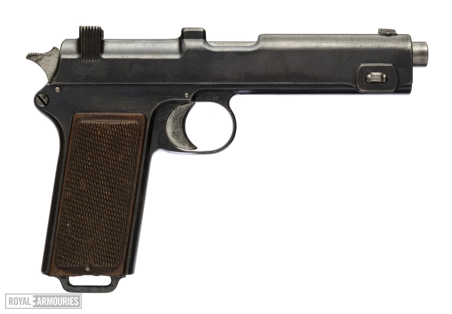 Centrefire self-loading pistol - Steyr Model 1912 Blowback operating system