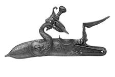 Thumbnail image of Flintlock sporting gun - By Henry Crisp Silver-mounted for presentation by Lord Dartmouth