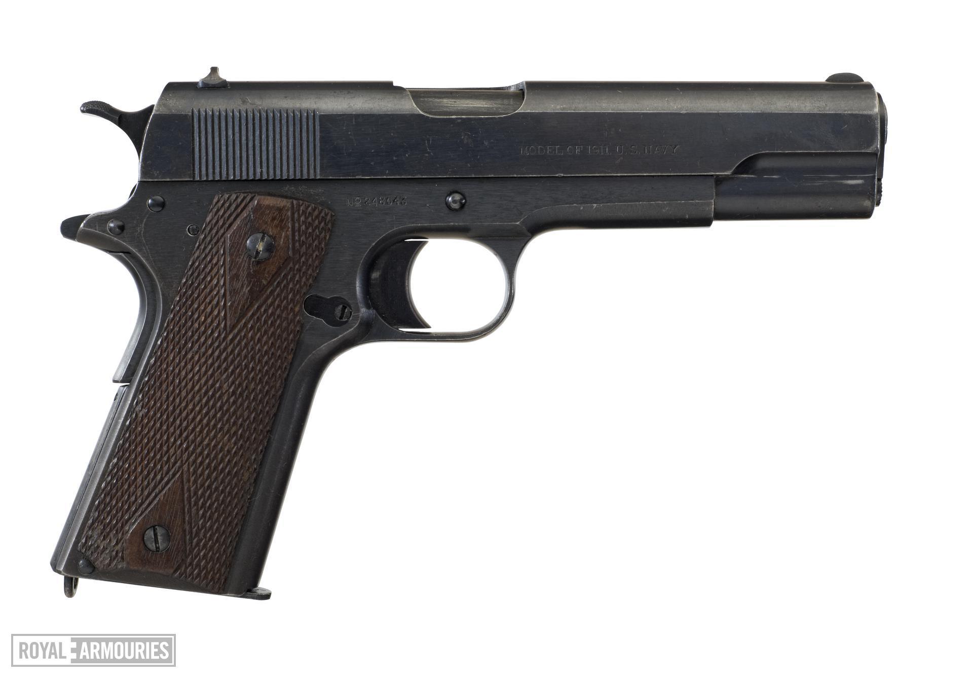 Centrefire self-loading pistol - Colt Model 1911, US Navy