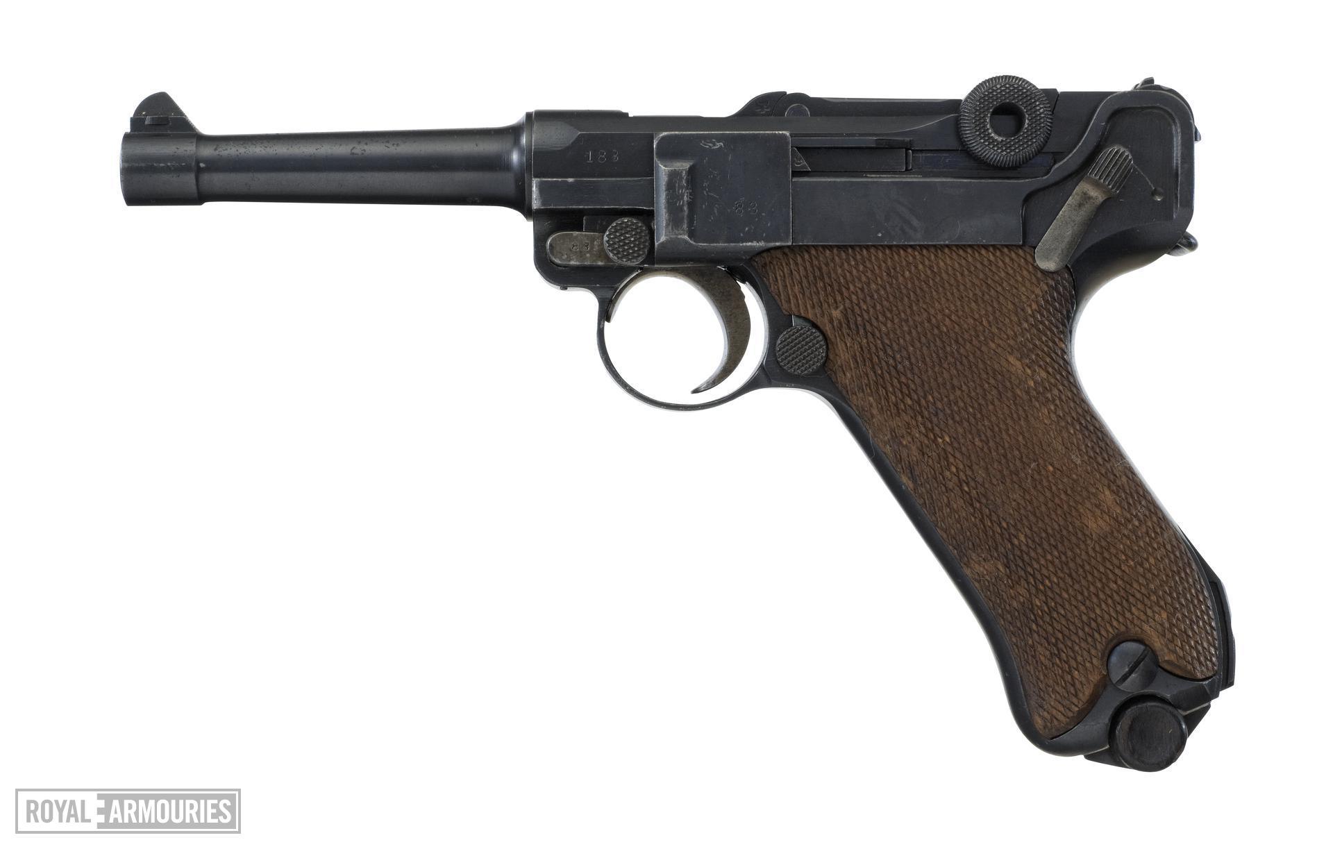 Centrefire self-loading pistol - Luger Model PO8
