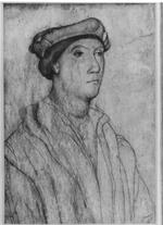 Thumbnail image of Drawing - Sir Richard Southwell Portrait of Sir Richard Southwell, Master of the Armouries 1554-61, after Holbein. Pen and ink on Vellum.