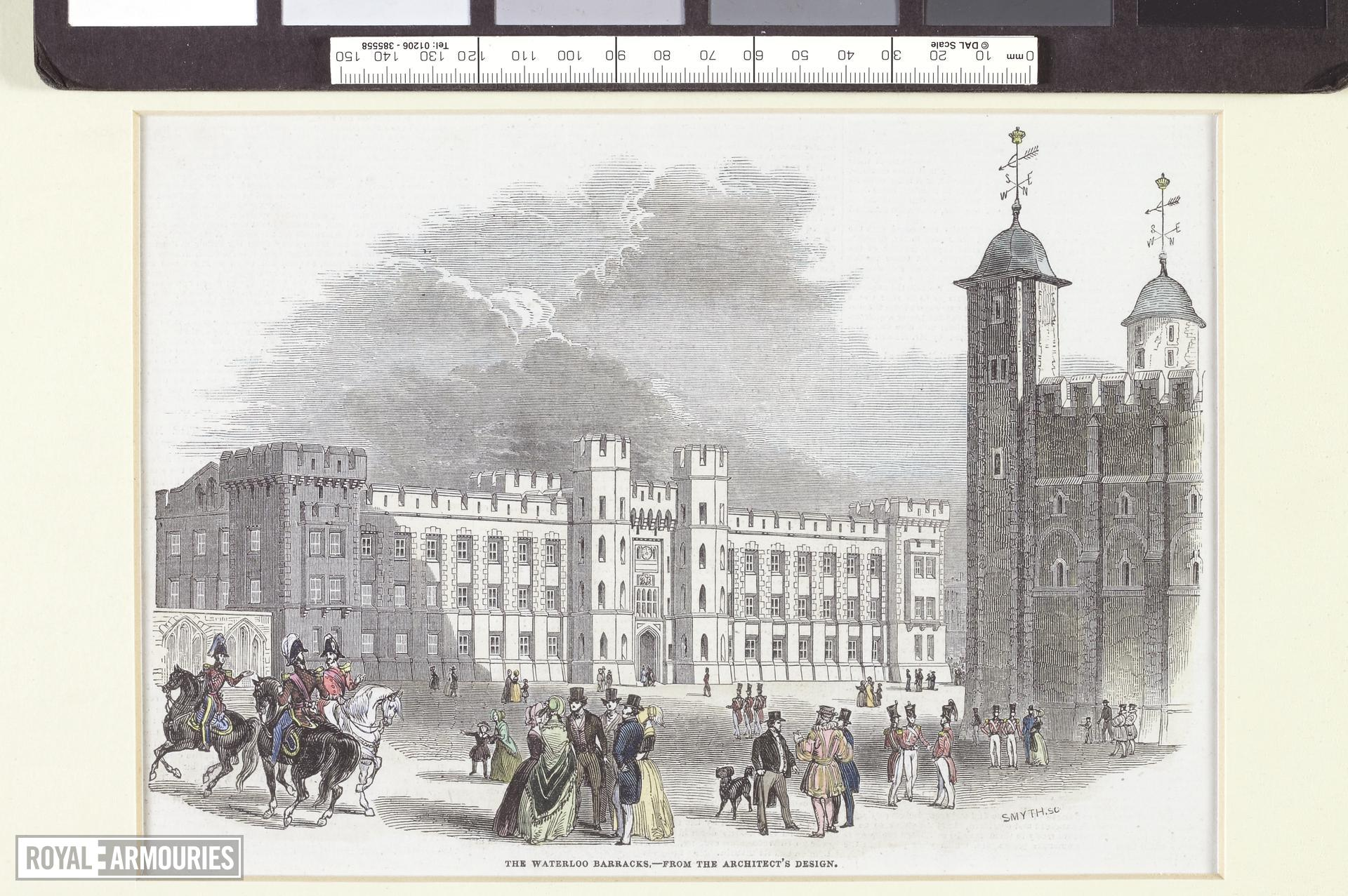 Illustration of proposed design for the Waterloo Barracks