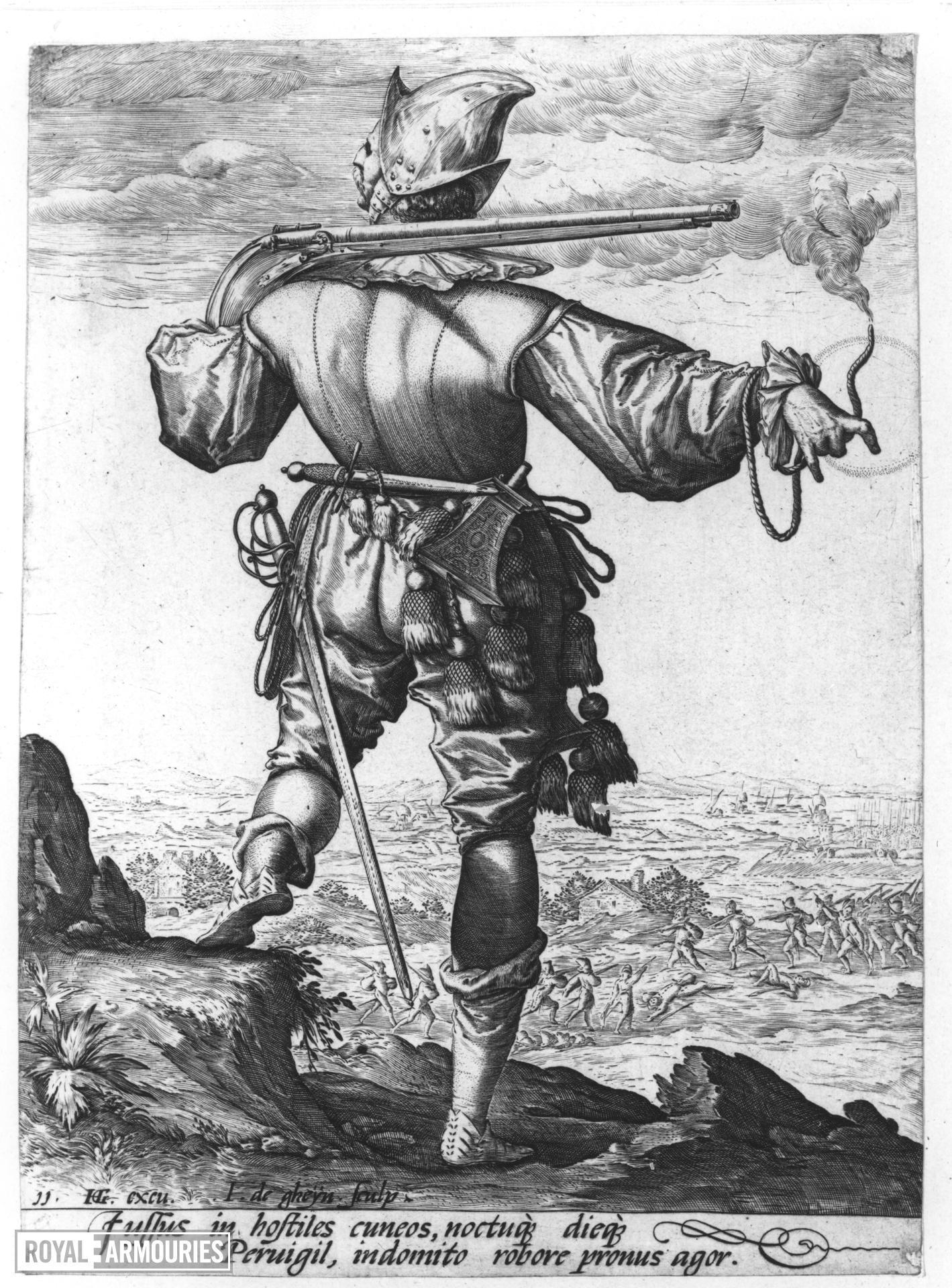 Prints Military figures drawn by Jacob de Gheyn