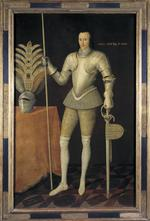 Thumbnail image of Painting - Portrait of Robert Radclife Portrait of Robert Radclife, Earl of Sussex, called the 'White Knight', painted about 1593.