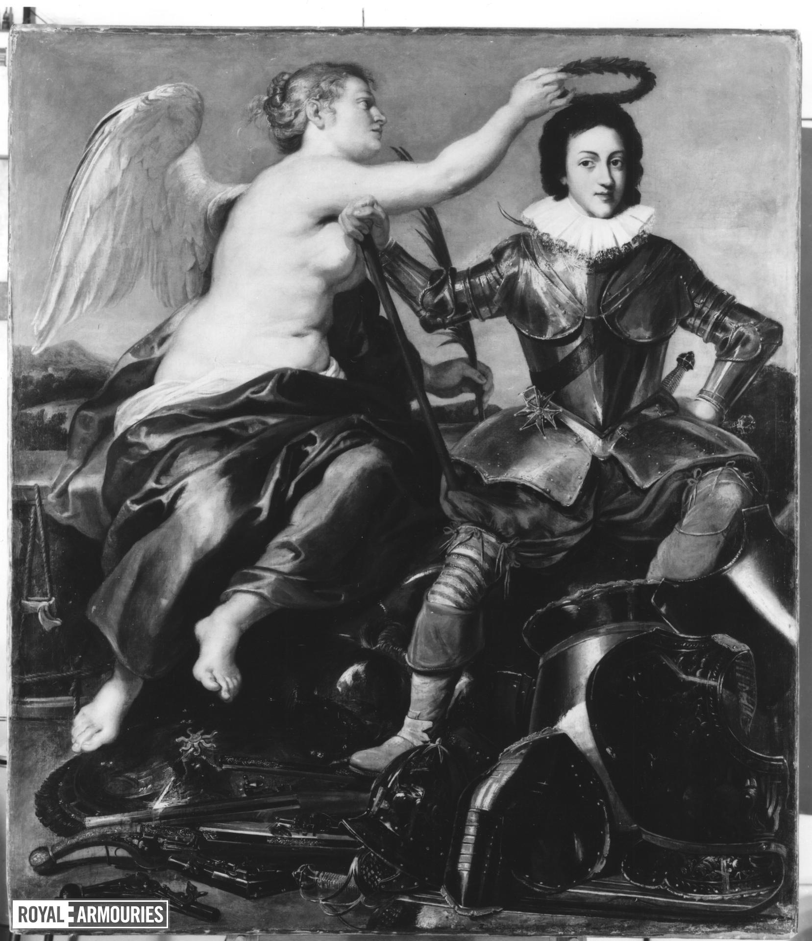 Painting - Louis XIII of France Young Louis XIII crowned by Victory