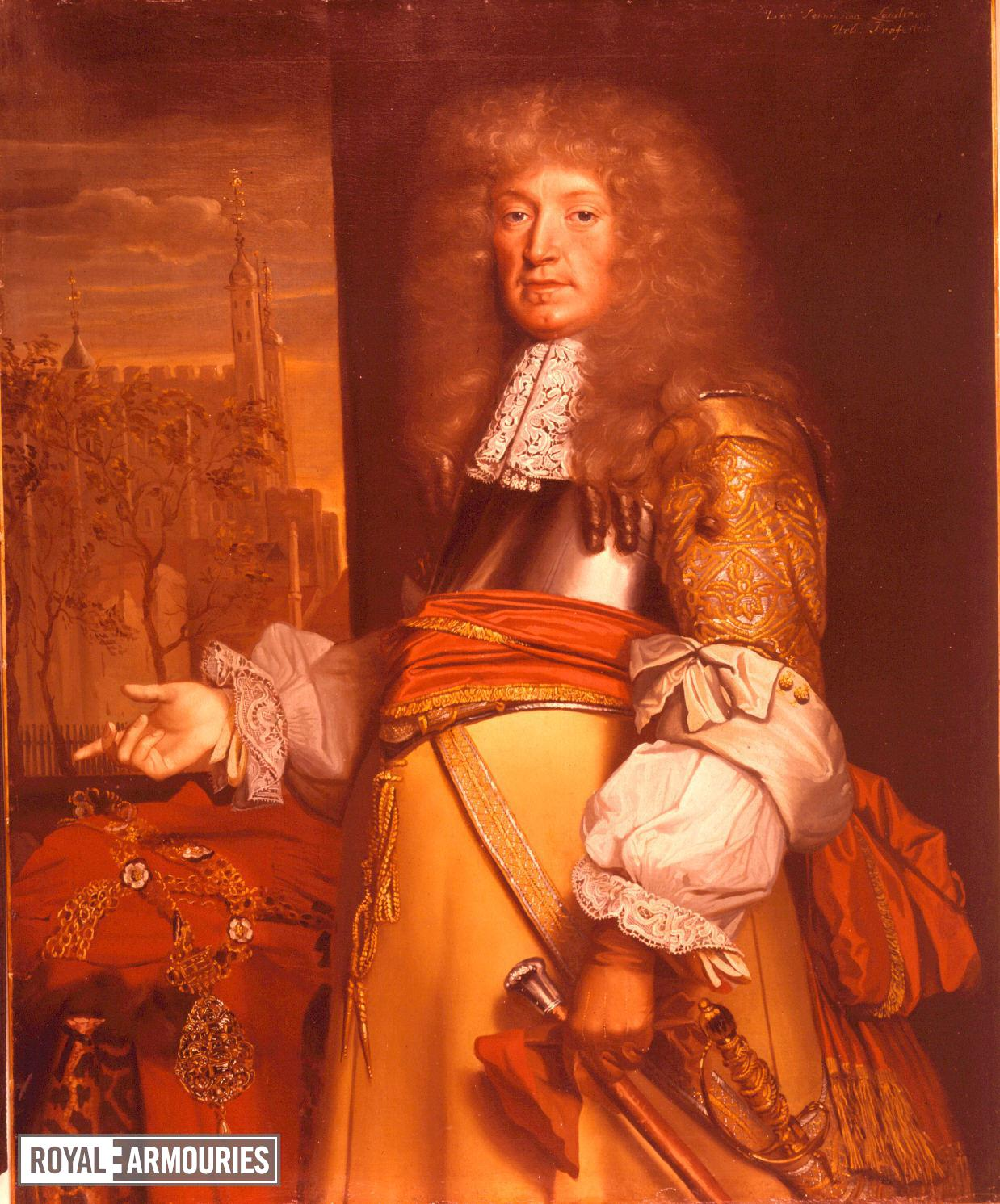 Painting Portrait of Sir John Robinson, by John Michael Wright, about 1669 - 1675.