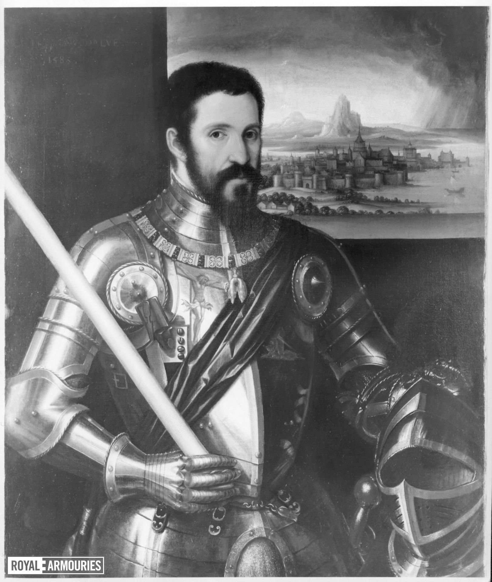 Painting portrait of the Duke of Alba.