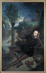 Thumbnail image of Painting Portrait of Lord Willoughby d'Eresby. Oil on canvas. Probably a copy of a late 16th Century painting