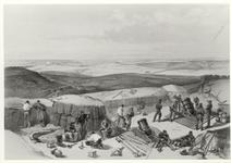 Thumbnail image of Print 'The New Works at the siege of Sebastopol'. Lithograph
