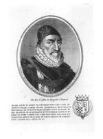 Thumbnail image of Print Engraved Portrait of Charles Howard, Earl of Nottingham, Lord High Admiral of England, 1536-1624.