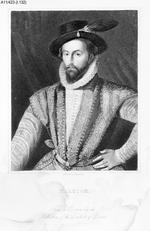 Thumbnail image of Print Engraved portrait of Sir Walter Raleigh, 1552-1618.