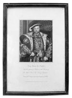 Thumbnail image of Print Portrait of Henry VIII, after Holbein.