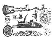 Thumbnail image of Prints P. Schonck, 'Plusiers Pieces et Ornements d'Arquebuserie', Amsterdam, 1692.