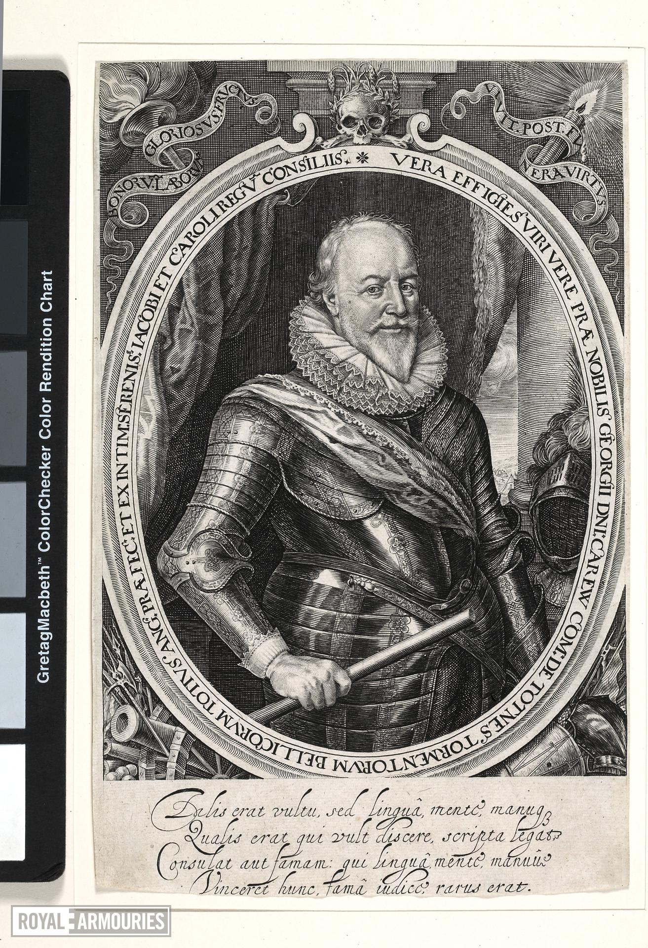 Print Engraved portrait of George Carew, Earl of Totnes, (1555-1629)