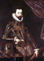 Thumbnail image of Painting Portrait of Alessandro Farnese, Duke of Parma, in armour.