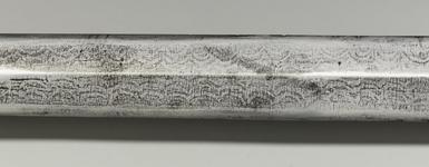 Thumbnail image of Sword (jian) and scabbard Sword (jian) and scabbard, probably made in the court workshops of the Yongle Ming Emperor. Chinese, Ming Dynasty, early 15th century.