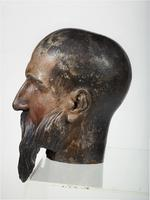 Thumbnail image of Wooden head of Edward III Carved wooden head of Edward III