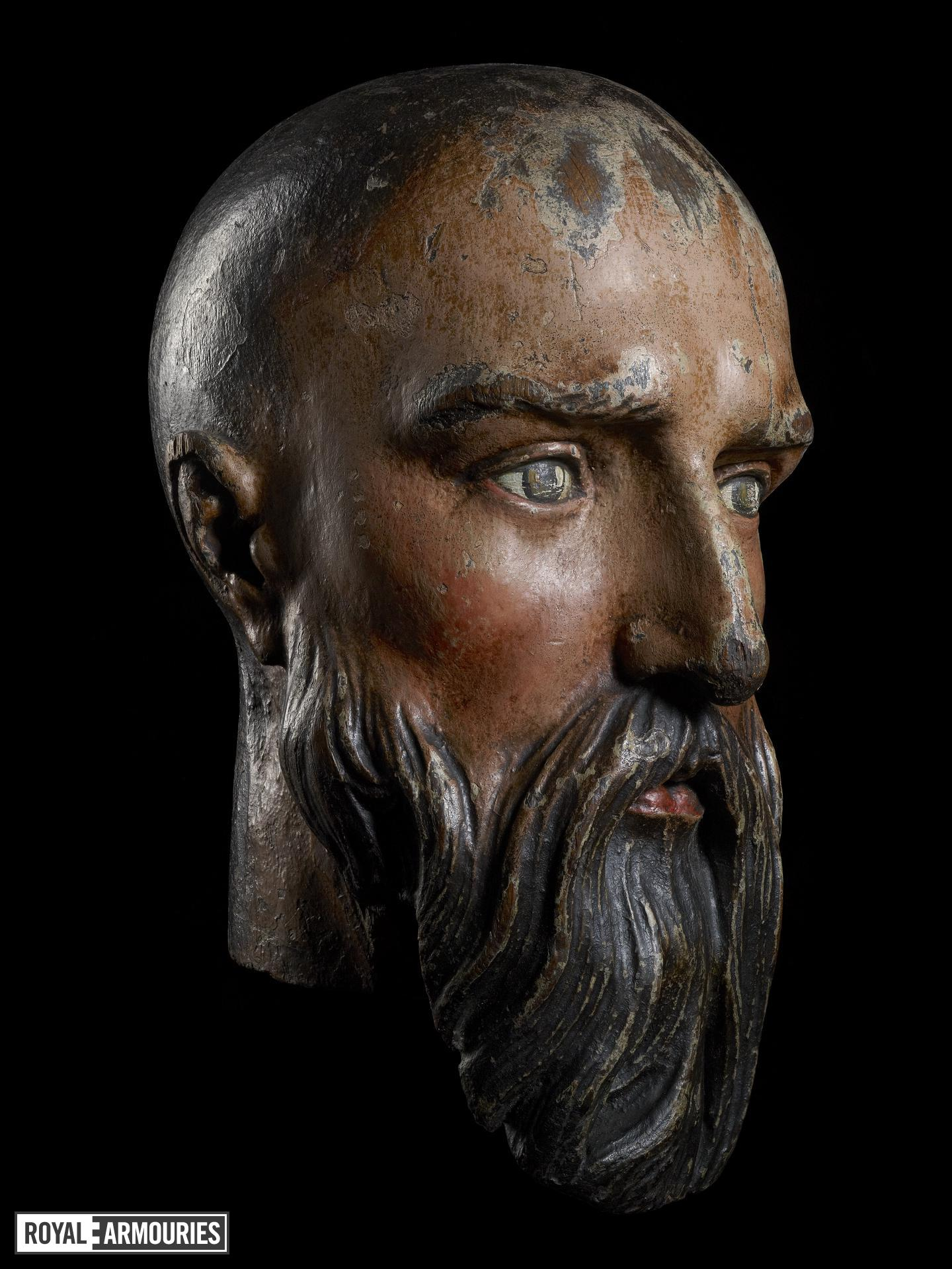 Wooden head of Edward III