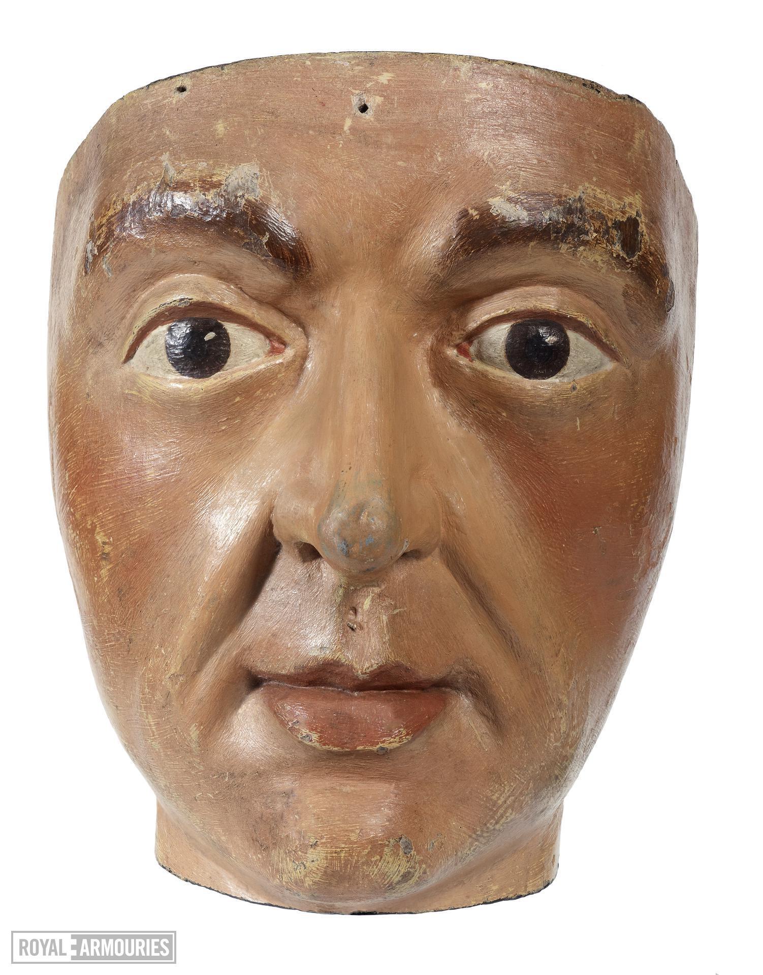 Wooden male head