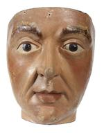 Thumbnail image of Wooden male head Carved