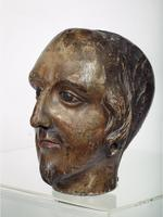 Thumbnail image of Carved Wooden Head Carved Head of James 1 ?