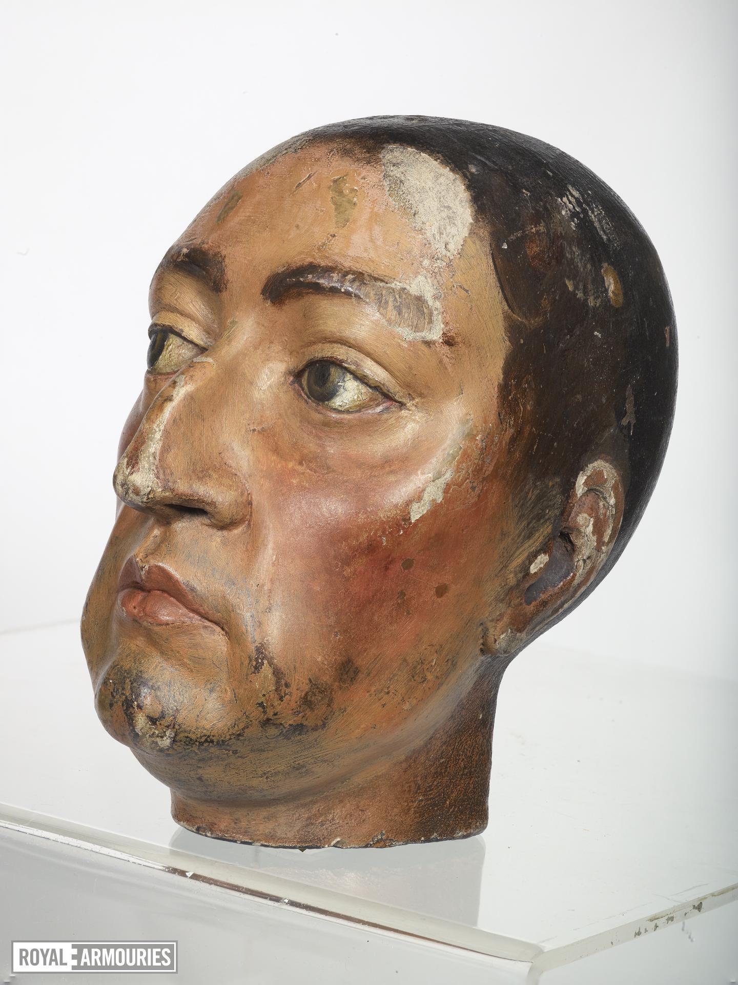 Wooden Head of William III? Carved wooden head of William III ?