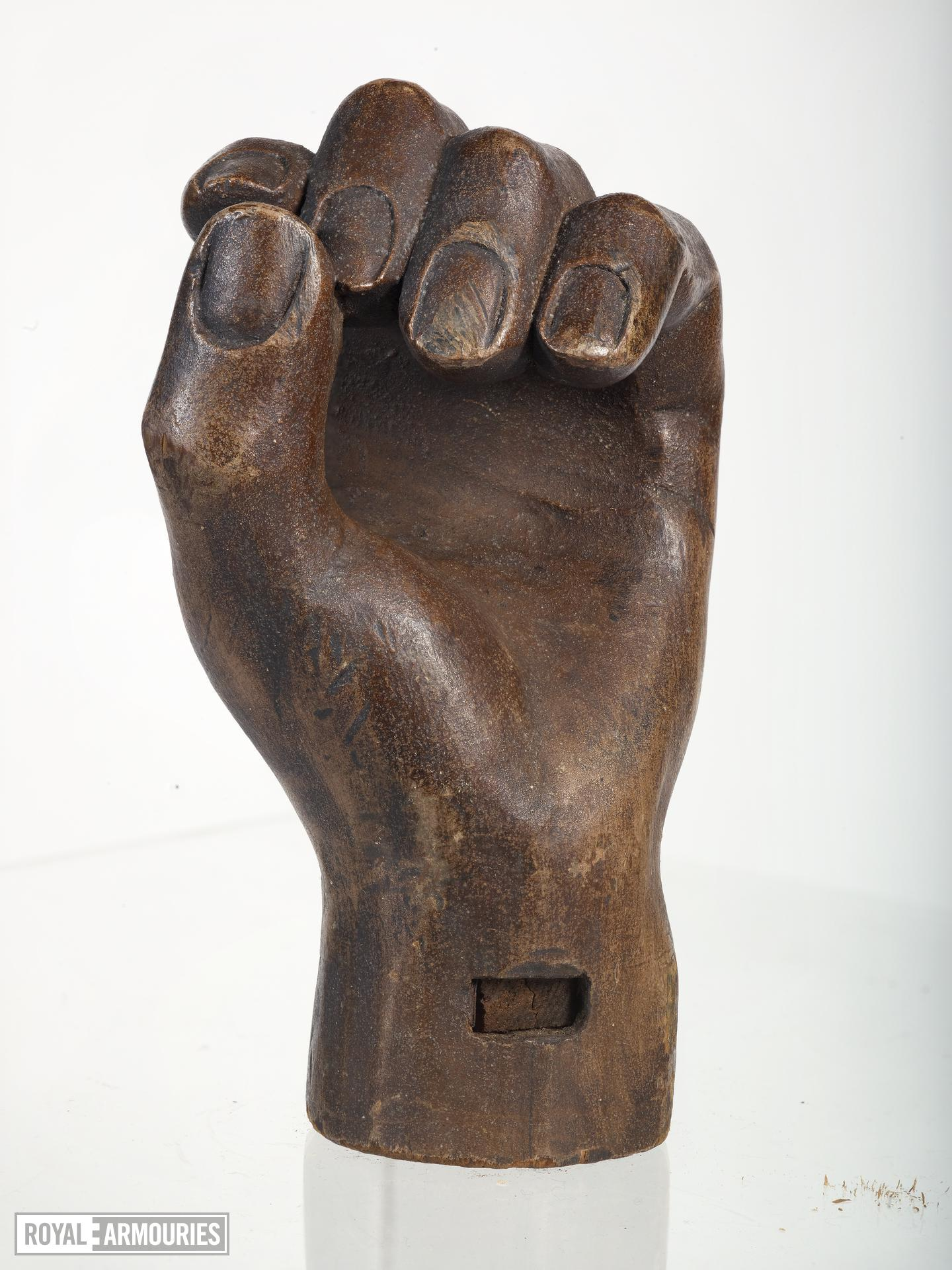 Wooden hand Carved wooden hand