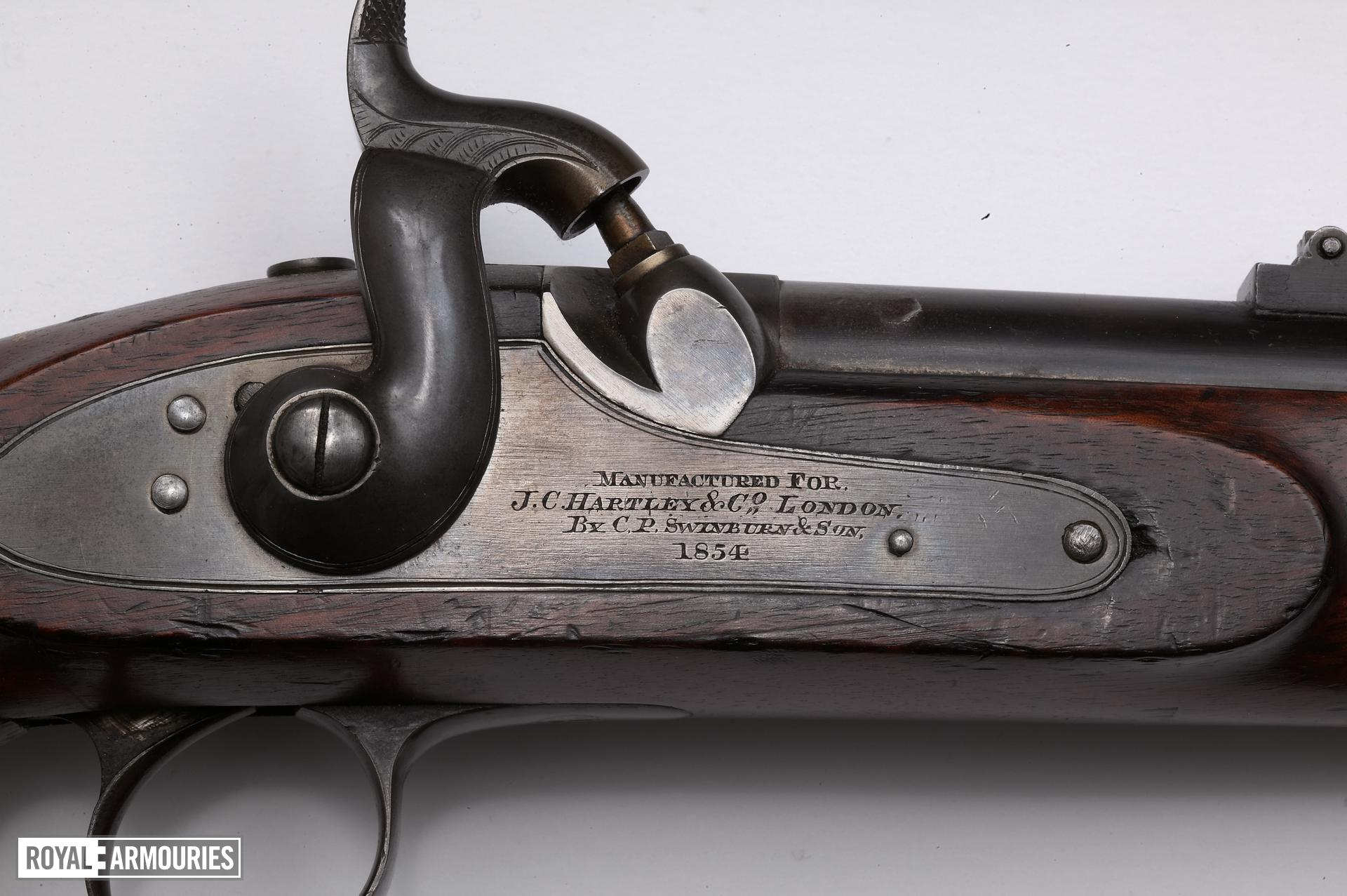 Percussion muzzle-loading military rifle - Jacob Pattern 1853 Of Enfield pattern by C.P. Swinburn, Major John Jacobs pattern