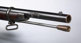 Thumbnail image of Percussion muzzle-loading military rifle - Jacob Pattern 1853 Of Enfield pattern by C.P. Swinburn, Major John Jacobs pattern