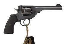 Thumbnail image of Centrefire six-shot revolver - Webley Mk.VI, sealed pattern British service revolver.