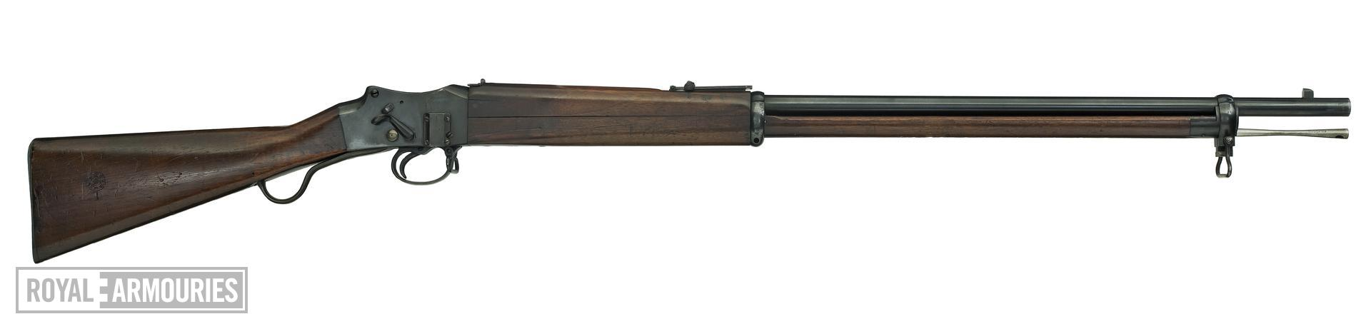 Centrefire breech-loading rifle - Experimental Martini 1st Model