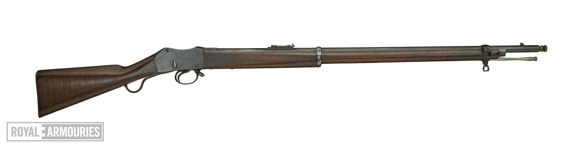 Centrefire breech-loading rifle - Martini-Henry Mk.III, sealed pattern Made at Enfield RSAF
