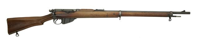 Thumbnail image of Bolt action magazine military rifle (Lee Enfield Rifle, Mk. 1). British, 1895