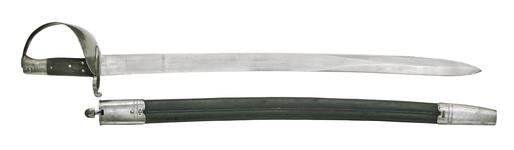 Thumbnail image of Cutlass Bayonet - Pattern No.3 1859 Naval Model, Verney's catch for Naval rifle Pattern 1861