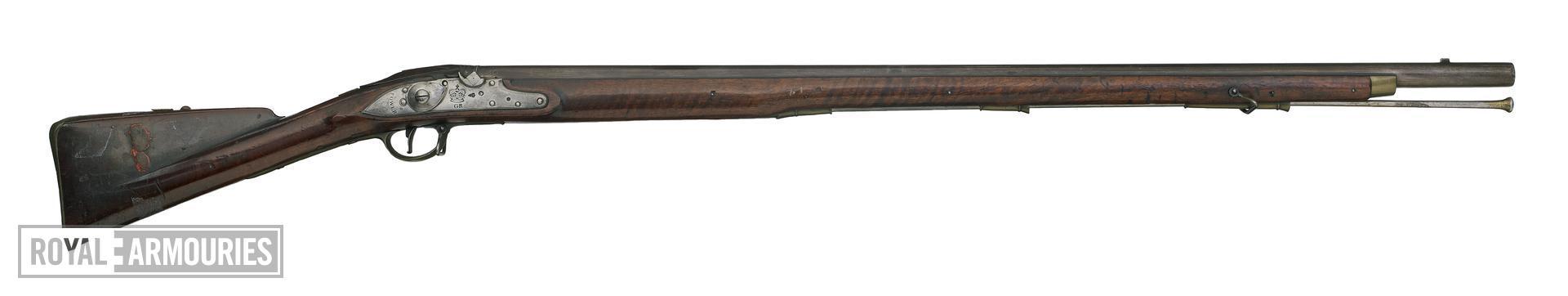 Percussion muzzle-loading military musket - India Pattern, sealed pattern