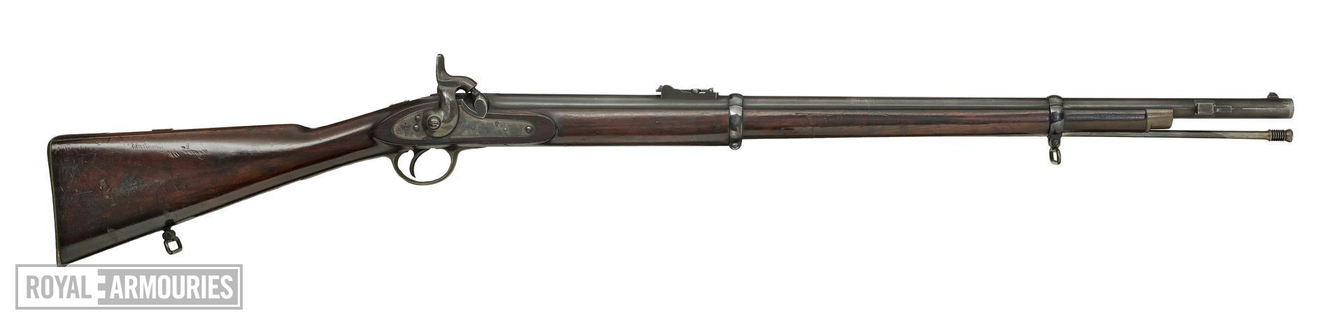 Percussion muzzle-loading military rifled carbine - Pattern1856 for the East India Company, sealed pattern