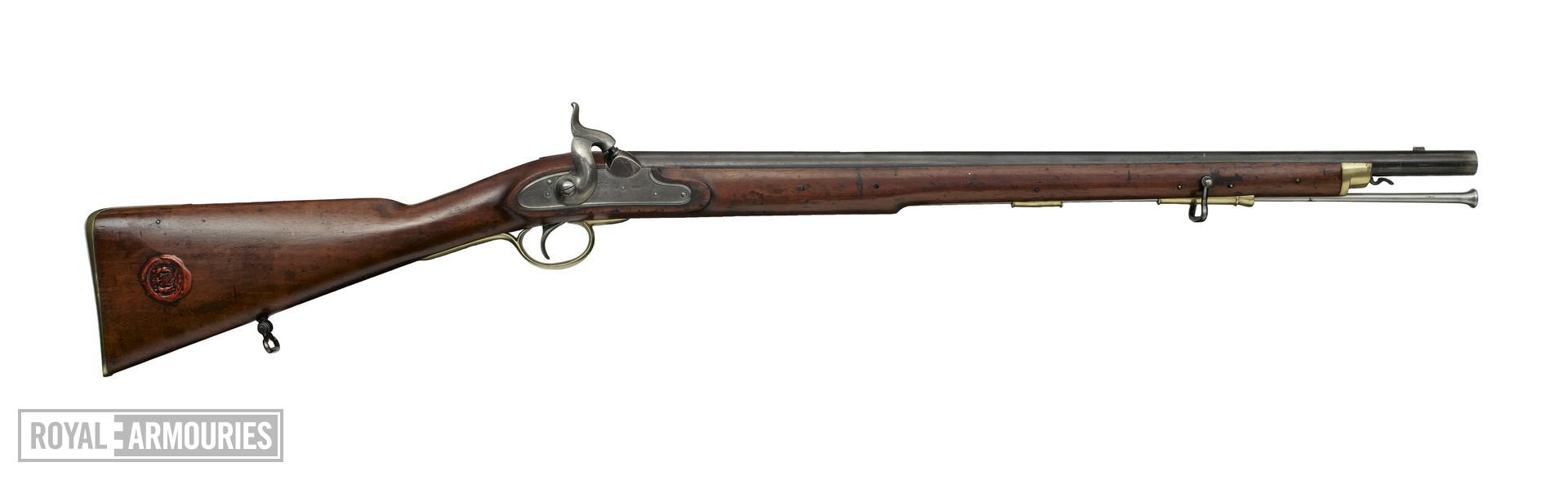 Percussion muzzle-loading military carbine - Pattern 1840 for Constabulary, sealed pattern