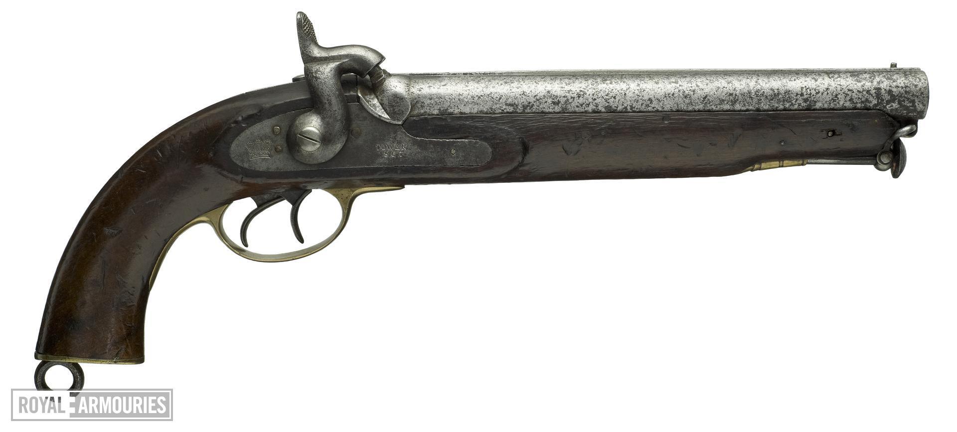 Percussion double-barrelled pistol