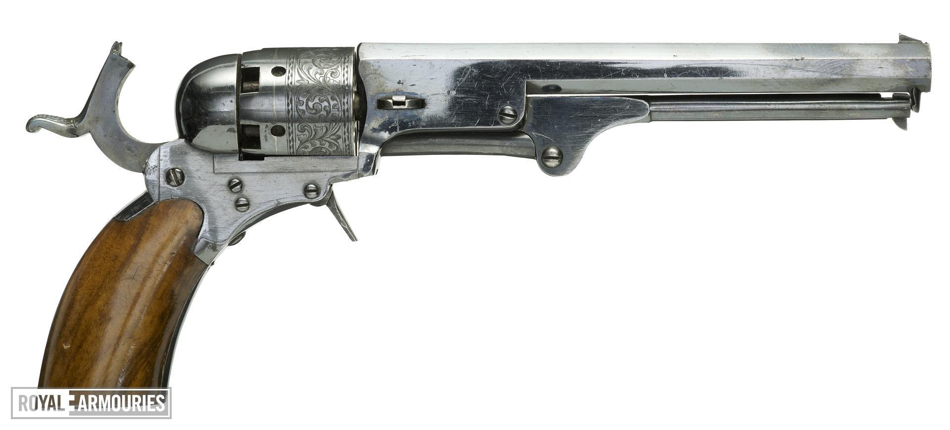Percussion five-shot revolver - Paterson Texas type