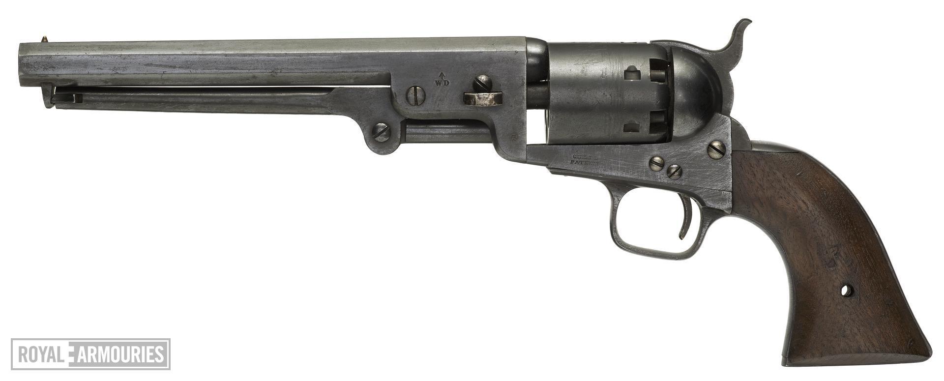 Percussion six-shot military revolver - Colt Navy Model 1851