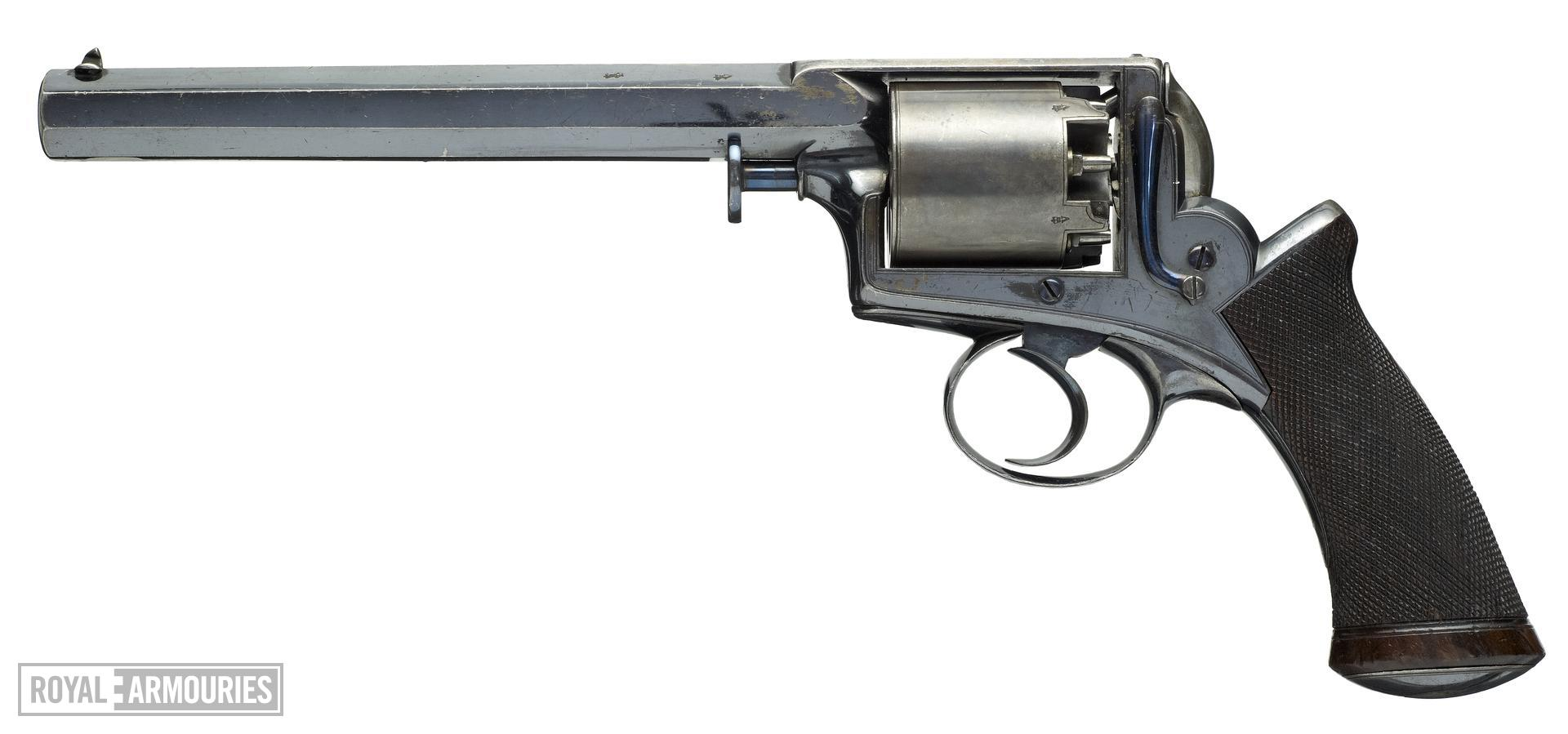 Percussion five-shot revolver - Adams Model 1851 Holster size. Retailed by Deane Adams & Deane, King William St