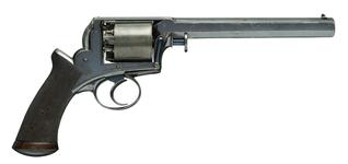 Thumbnail image of Percussion five-shot revolver - Adams Model 1851 Holster size. Retailed by Deane Adams & Deane, King William St