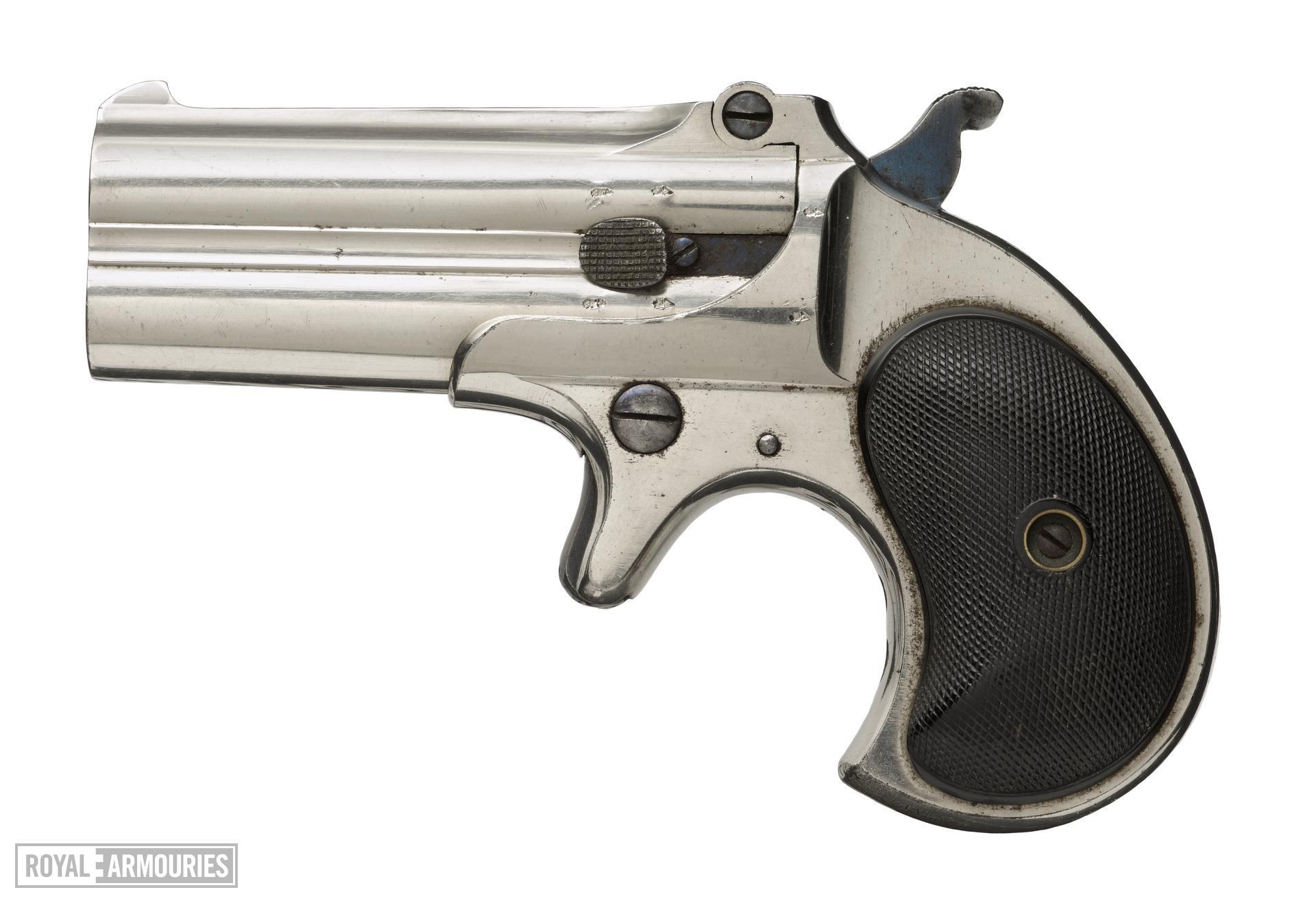 Rimfire breech-loading double-barrelled derringer pistol - Remington-Elliot Pattern Double Derringer