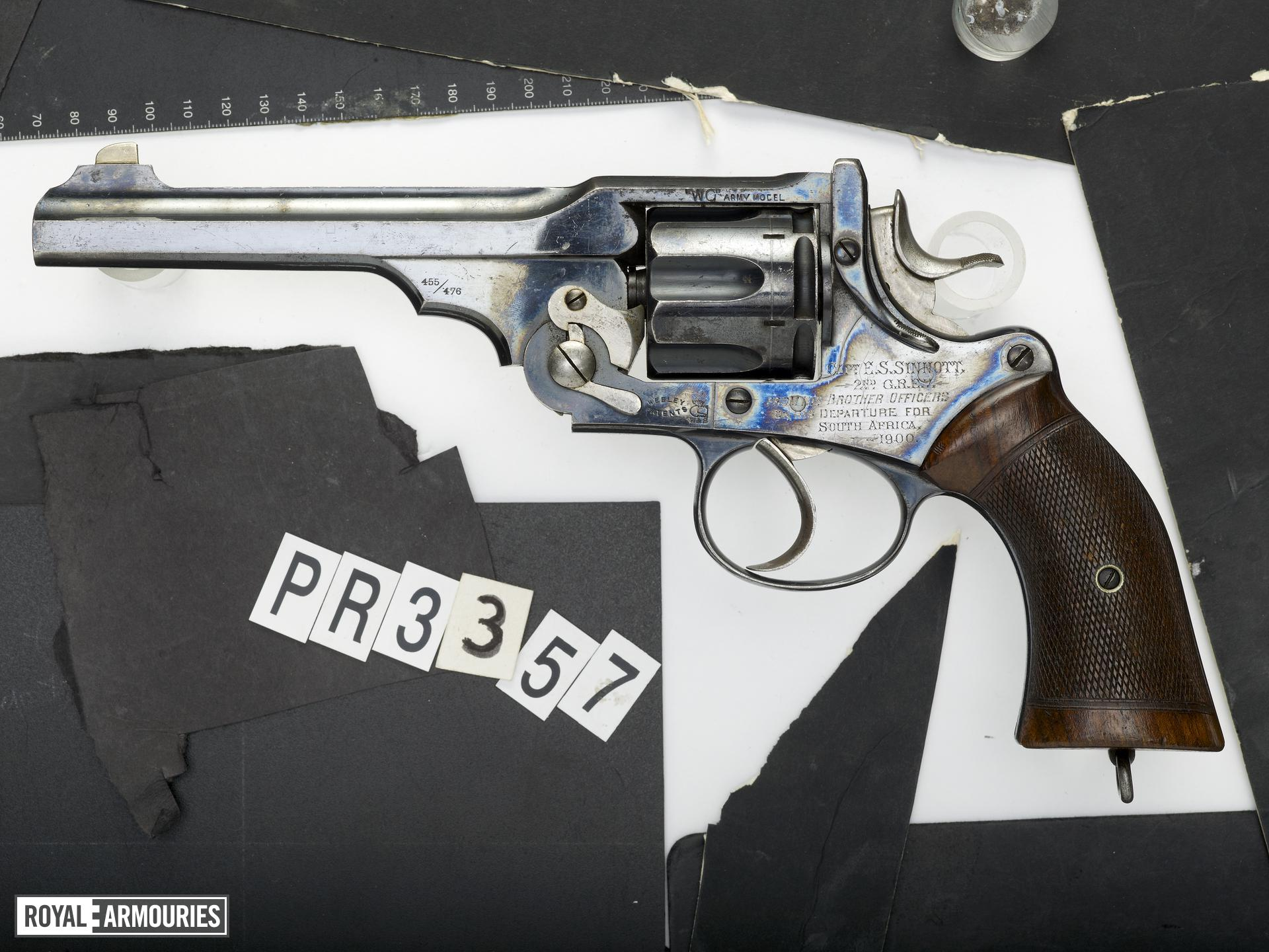 Centrefire six-shot revolver - Webley Government Army Model