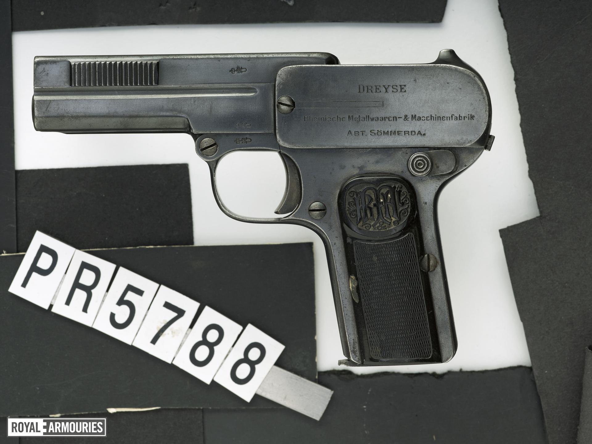 Centrefire self-loading pistol - Dreyse Model 1907