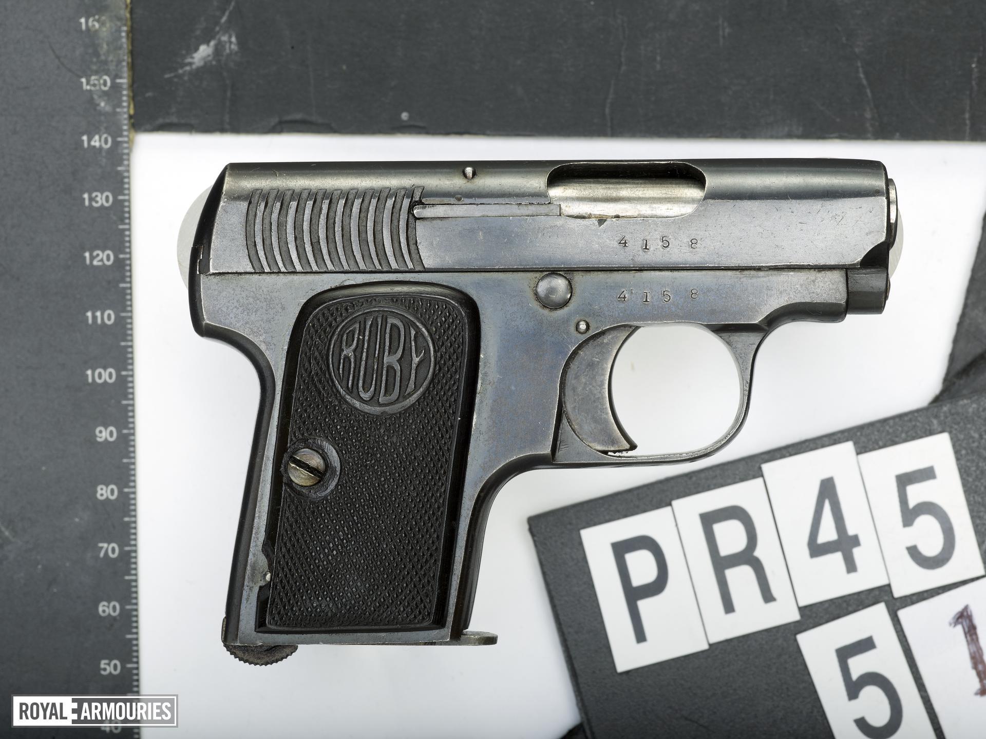 Centrefire self-loading pistol - Ruby